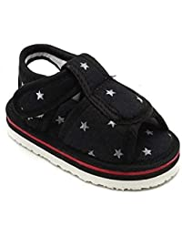 CHIU Chu-Chu Black Color Sandal with Strap for 12-15 Months Baby Boys & Baby Girls (Size - 6 UK, Foot Length - 14 cm)