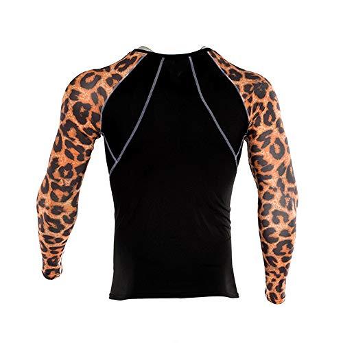 Beonzale Summer Fashion Herren Yoga Fitness Soft T-Shirt Schnelltrocknende Sport Druck Top Bluse Slim-Fit Training Geeignet Für Workout