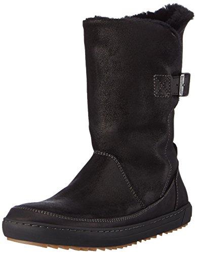 BIRKENSTOCK Shoes Woodbury Damen, Damen Kurzschaft Stiefel, Schwarz (Black Lammfell), 38 EU