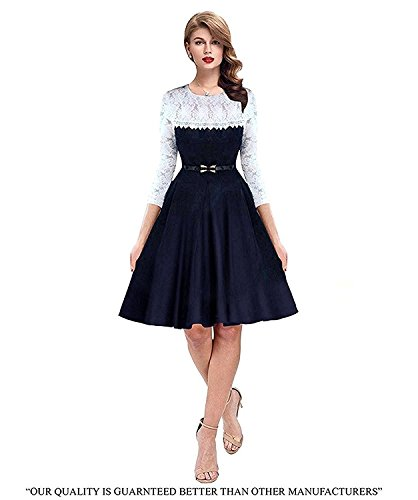 Shivalika Tex Women's Western Wear Party Wear Skater Dress (XX-Large)