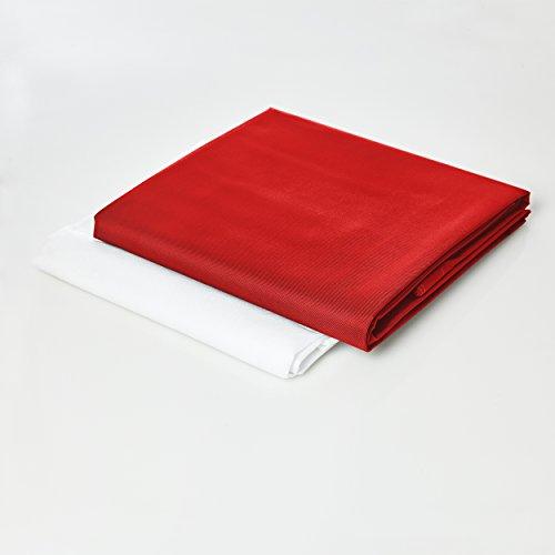 Lumaland Funda de Cojines PUF otomano maxi XXL 140 x 180 cm relleno 380l outdoor indoor rojo