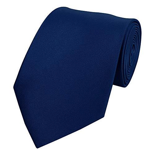 Fabio farini cravatte 8 cm con confezione regalo (solo cravatta, blu scuro)