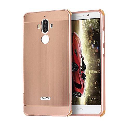 Metall Schutzhülle Alu Hard-Case Schutz Handytasche Ultra-Slim Handy-Hülle für Huawei Mate10, Rosen