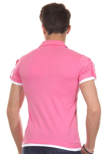 R-NEAL Poloshirt slim fit pink/weiss