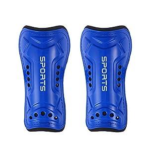 VORCOOL 1 para Leicht und Atmungsaktiv Kind Kalb Schutzausrüstung Fußball Ausrüstung für 3-10 Jahre Alt Jungen Mädchen Kinder Jugendliche (Blau)