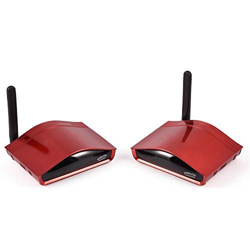 VBESTLIFE 300 Meter 984ft 5,8 GHz Digital Wireless Audio Video AV Sender Sender und Empfänger(rot) 5.8 Ghz Wireless Audio