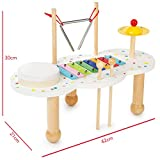 boppi Musikalisches Holzspielzeug 4-in-1-Musiktisch