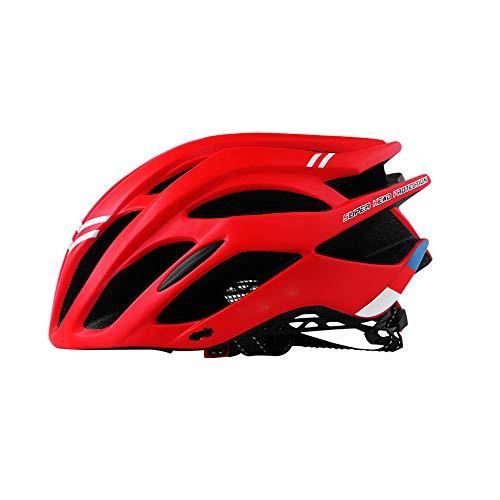 Lbyhning Fahrradhelm, Einstellbarer Sicherheitsschutz Leichter Fahrradhelm für Fahrradfahren BMX Scooter Fahrradhelm(56-60cm)