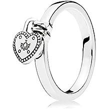 Plata 925 anillo corazón Pandora 196571