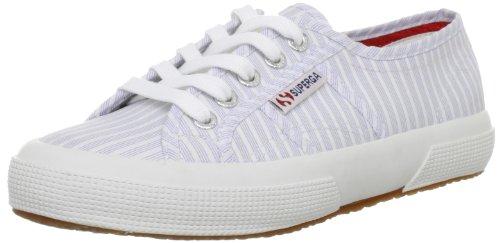 Superga 2750 Cotu Classic, Baskets mixte adulte Blanc - Stripes White/Blue