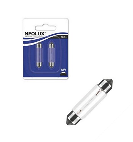 NEOLUX N264-02B 10W 12V SV8,5-8 43mm Soffitte Lang Blister 2 Stück NEOLUX® by OSRAM -