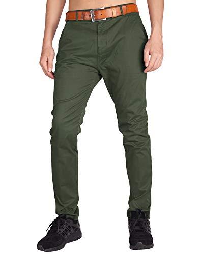 Italy morn uomo pantaloni chino cotone marina militare regular fit s esercito verde