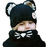 Tukistore Cappelli di lana invernale Sciarpe Cute Cat Beanie Sciarpa  lavorato a maglia Beanie Berretti Cappellino a1342be544c3