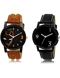 The Shopoholic Black Combo New Collection Black Dial Analog Watch For Boys Love Watch