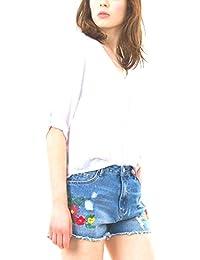 Tiffosi Blusa Mujer Carey 1 Escote Pico Manga Larga con Trabillas Estilo Seda Crudo