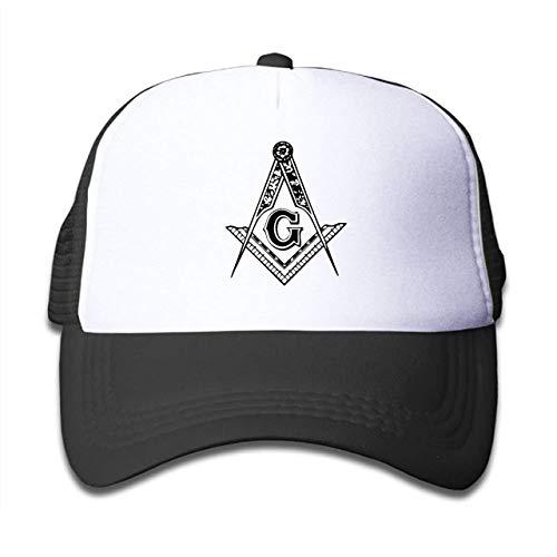 ASKYE Trucker Cap Boys and Girls Freemason Logo Square & Compass 3 Mesh Baseball Hat
