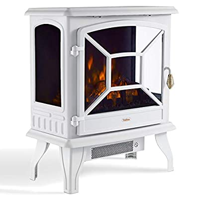 VonHaus Stove Heater Fire Place/Fireplace White