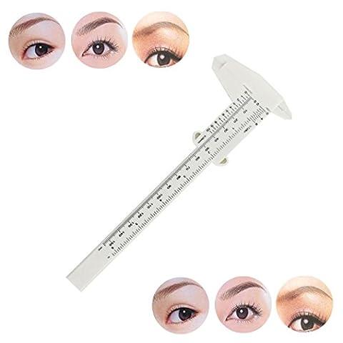 Tefamore 1STK Microblading wiederverwendbare Make-up Augenbraue Guide Herrscher permanente Messwerkzeuge,Weiß