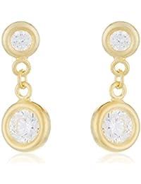 Córdoba Jewels | Pendientes en plata de Ley 925 bañado en oro rosa. Diseño Ideal Cadenas Oro