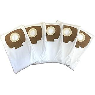 5 Vliesfilterbeutel für Kärcher Serie WD4 - WD 4 Premium / Car Kit, alternativ zu 2.863-006.0 Staubsaugerbeutel / Flies-Filtertueten Set von Microsafe®