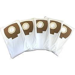 5 Sacs Filtre pour Serie wd5 - Kärcher WD 5 P/P Premium/Premium/Premium Renovation Kit, mipuu 2.863-006.0 Sacs Aspirateur/Flies Kit de 333.0 de Microsafe en Non-Tissé ®