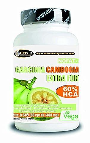 Garcinia | Fat Burner - favorise la perte de poids | 60 comprimés | 1000 mg par comprimé! 60% de HCA | Fat Burning puissant - lutte contre la faim - réduit appétit | Il aide à drainer | 1 paquet 2 mois de traitement | Comprimés sans gluten - 100% naturel et végétalien.