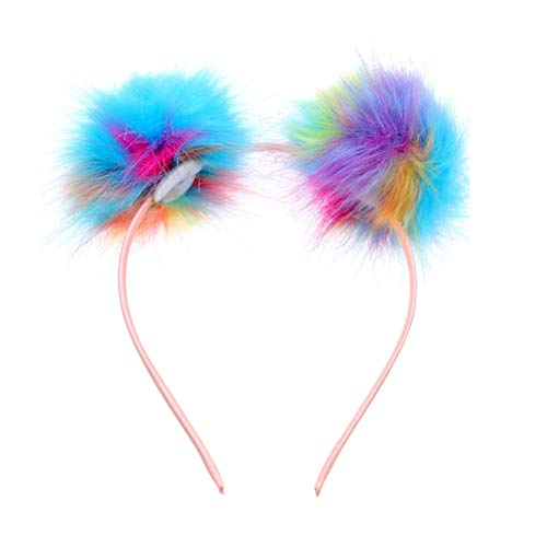 Hoops Pom Pom Stirnband für Mädchen Frauen Maskerade Talent Show Party (bunt) ()
