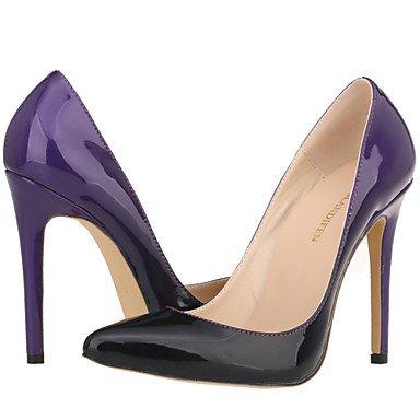 Moda donna sexy sandali scarpe donna sintetico Stiletto Heel tacchi tacchi Wedding/Office & Carriera / Party & Sera/Casual viola / rosso /Mandorla almond