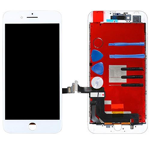 LL TRADER für iPhone 8 Plus Weiß LCD - Touchscreen-Display Digitales-Glasobjektiv Reparaturset(einschließlich Werkzeug) Plus Digital Display