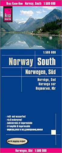 Noruega sur, mapa impermeable de carreteras. Escala 1:500.000 impermeable. Reise Know-How. por VV.AA.