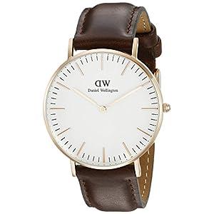 Daniel Wellington 0511DW – Reloj con correa de acero para mujer, color Blanco / Rose Gold