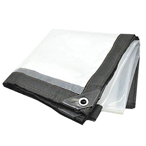 Kzf Transparente Plane Transparente Plane Marktstand für schwere Rippenplatten Staub- und Regenschutz,3x8m -