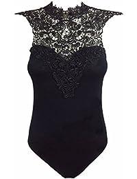 Fast Fashion - Bodysuit Imprimé A Rayures Maille Insert - Femme