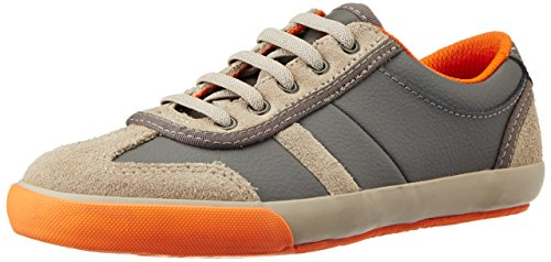 Clarks Boy's Alfie Fun Grey Leather Sneaker - 4.5 kids UK/India (20.5 EU)
