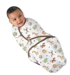 Summer Infant Etape 2 Couverture 100% Coton Imprimé Jungle Petit/Moyen 3-6 kg Blanc