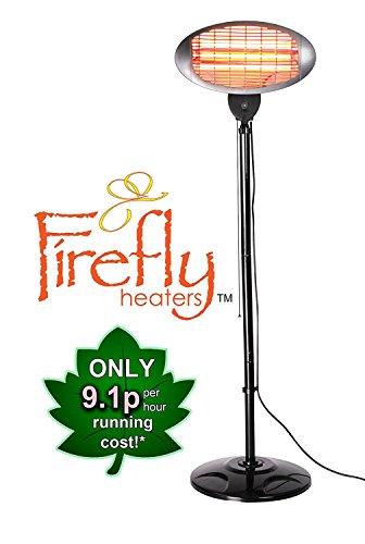 2.000 Watt Firefly Quarz-Heizstrahler, Wickeltischheizstrahler, höhenverstellbar mit 3 Wärmestufen