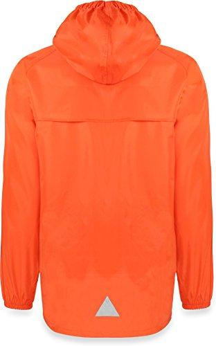 Leichte Windjacke / Regenjacke im Beutel, Unisex - Erwachsene Orange