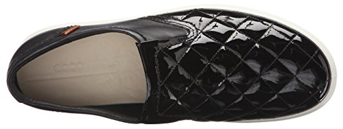 Ecco Damen Soft 7 Ladies Sneakers Schwarz (BLACK/BLACK 53960)
