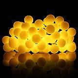 ProGreen warmweiß Lichterkette, 14.8ft (4.5Meter) 40er LED Kugeln Lichterkette, IP65 Wasserdicht, batteriebetriebene Lichterkette für Innen- und Außenbeleuchtung, geeignet für Party, Weihnachten, Hochzeit, Feier, Zimmerdekoration usw.