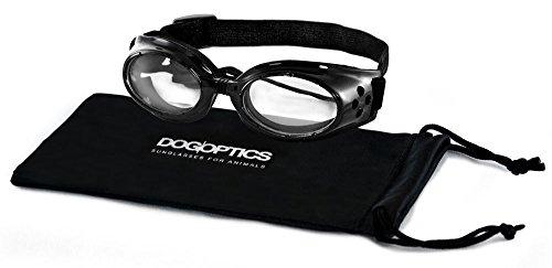 Dogoptics Ibiza Sonnenbrille, Schwarz Rahmen/transparent Objektive Größe S 05