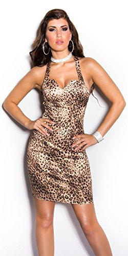 In-Stylefashion - Robe - Femme Or Or Orange - Effet léopard