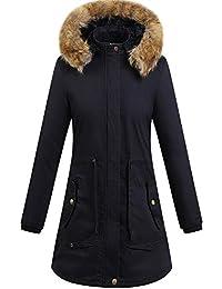 Abrigos para Mujer Más tamaño Invierno cálido Abrigo Grueso Abrigo con Capucha Chaqueta de algodón Acolchado