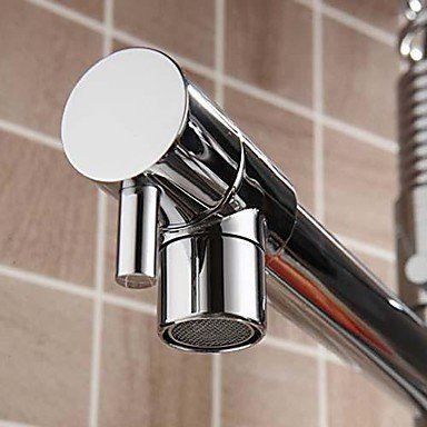 SHUYOU® Contemporary Chrome Finish Single Handle Pull-out Kitchen Faucet