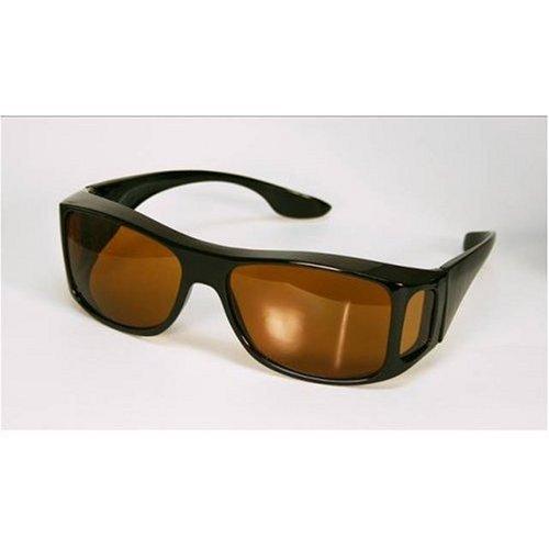 HD Sonnenbrille innovativ und mit Seitenschutz, scharfes und entspanntes Sehen beim Autofahren und am Meer, bernsteinfarbene Gläser mit UV-Filter, verfälschen Farben nicht und verbessern die Sehschärfe, schützt die Augen auch an den Seiten vor Staub und schädlichen UV-Strahlen, kann auch über der Korrektionsbrille getragen werden