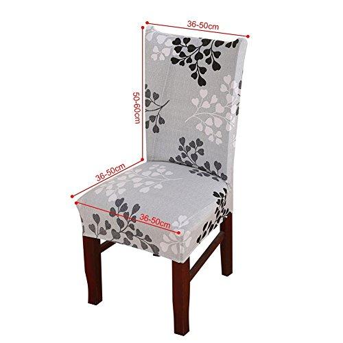 6x morbido spandex elasticizzato Fit sedie da sala da pranzo con motivo stampato, banchetto sedia sedile Slipcover per Hone party hotel cerimonia di nozze Posate da pasto B - 6