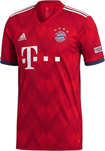 adidas Herren 18/19 FC Bayern Home Trikot FCB True Strong red/White, 2XL