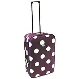 Karabar Guaranteed EasyJet Cabin Approved Expandable Suitcase (Purple/White)