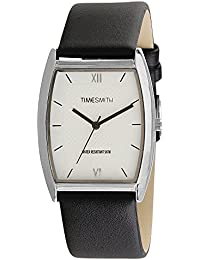 Timesmith Premium Limited Edition White Dial Black Classic Leather Strap Branded Anaog Watch For Men TSM-131