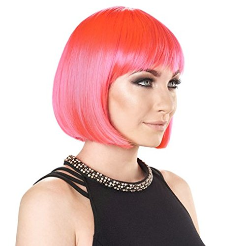 The Party Wig - Short Bob - Electric Pink by Undercover (Pink Perücke Electric)