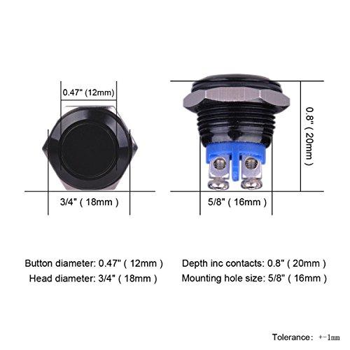 WINOMO-Interruttore-a-Pulsante-Istantaneo-Adatto-per-Foro-di-Montaggio-da-16-mm-nero